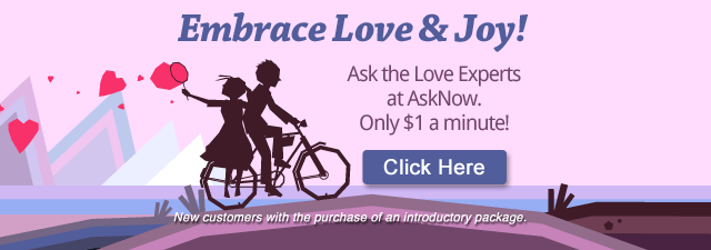 Embrace love and joy. Get a love reading. New customers with the purchase of an introductory package. Click Here.