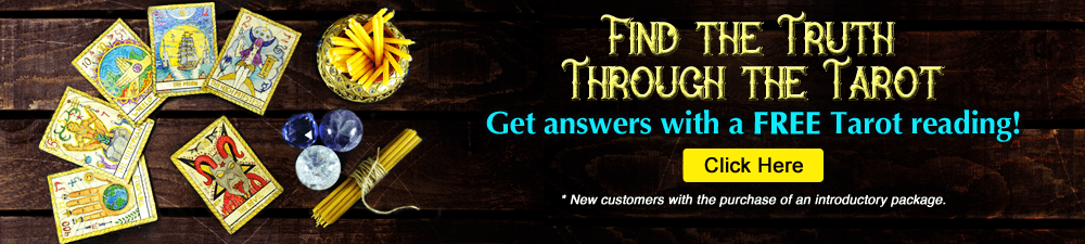 Find the Truth through the Tarot. Get Answers with a FREE Tarot reading! New customers only with the purchase of an introductory package - Click Here